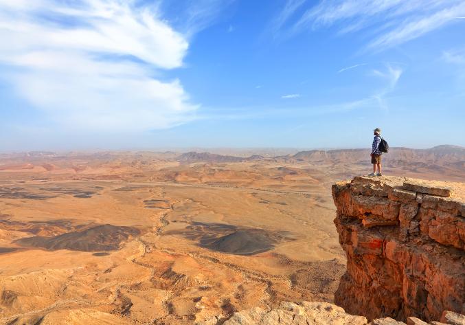 Desert Israël Terre Sainte pèlerinage groupe jeunes voyage